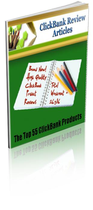 55 ClickBank Review Articles - Private Label Rights