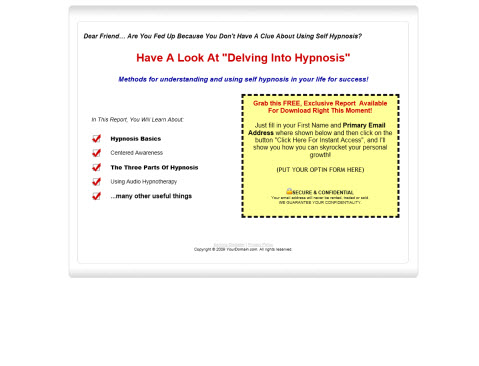 Audio Adrenaline Hypnotherapy - Report and Audios - Master