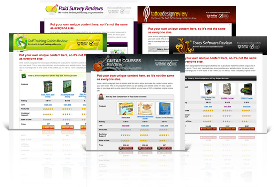 Product Review Affiliate Websites  Master Resell Rights