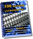 106 Amazing List Building Tips (PLR)